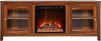 Y Decor Y-Decor FPC11 19 Wide Insert and Darkbrown Cabinet Electric Fireplace Brown