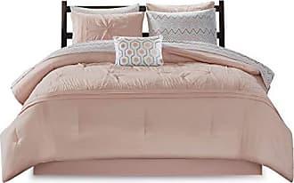 INTELLIGENT DESIGN Toren Embroidered Comforter and Sheet Set, Full, Pink