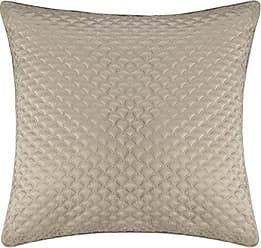 Five Queens Court Zarah Satin Damask Embroidered Euro Pillow Sham, Taupe