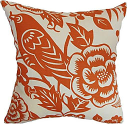 The Pillow Collection Campeche Floral Bedding Sham Tangerine, Standard/20 x 26