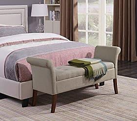 Convenience Concepts 143634FSBG Designs4Comfort Storage Bench, Soft Beige Fabric