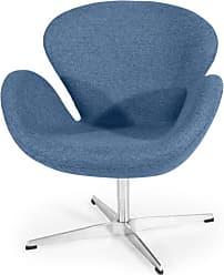 Kardiel Trumpeter Swivel Accent Chair Carbonite - SWAN-CARBONITE