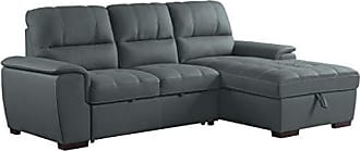 Homelegance Andes 98 Sectional Sofa with Storage Gray