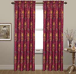 United Curtain Jewel Woven Window Panel, 54 by 63, Burgundy, 54 X 63