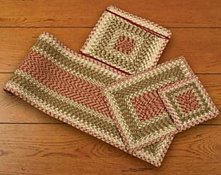 Earth Rugs 55-024 chairpad, Olive/Burgundy/Gray