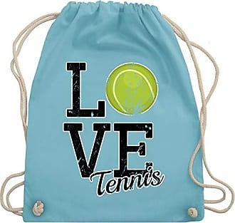 Tennis Hellblau Bag Wm110 Gym Love Unisize Turnbeutel amp; Shirtracer dCgxqtnwd