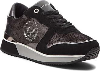 Sneakers Black Tommy City Hilfiger Sneaker Fw0fw03229 Femme 1r77BqUw