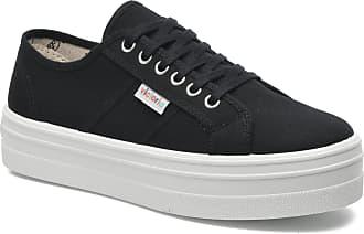 Damen Für Plataforma Schwarz Sneaker Victoria Blucher Lona w1qggX
