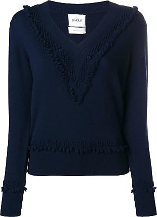 Neck Barrie V Timeless Bleu Pullover Romantic Cashmere FqFrI