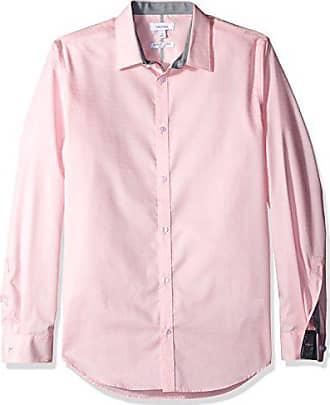 38adea17 Calvin Pink Shirt Mens Down Infinite Klein Cool Button Medium r4nxrwZ