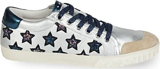 sneakers Ash Midnight motif star majestic Glitter Silberne leder Silver black 36 qqrHA0