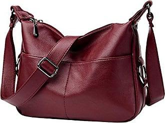 Bag Rucksack red Casual onesize Weiche Messenger Damen Brustpackung Ledertasche Umhängetasche Laidaye qwz0tYHp