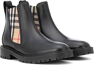 Leder Chelsea Aus Boots Burberry Allostock agqCwxv