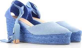 Para En Lona Azul 40 Cuña Mujer Cielo De Outlet Rebajas 2017 Zapatos Cuñas Baratos Castaner U50qRR