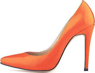 High Schick Orange Damen Spitz Stiletto Geschlossen Pumps Aisun Top Eu Low Heels Zehen 39 qaTxXB5wB