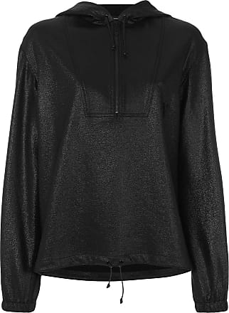 À Brillant Capuche Effet Saint Laurent Noir Sweat w01EE7