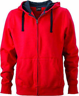 James Nicholson Capuche Sweat Homme amp; Rouge À Shirt Pour p5rpvq