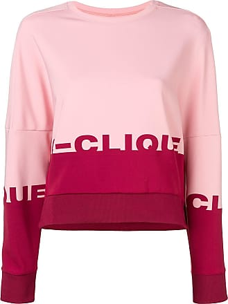 Rose Sweat Bicolore À Logo Pinko xPvH7wx