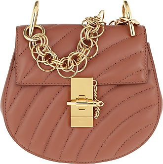 Mini Chestnut Brown Braun Chloé Leather Drew Umhängetasche Bijou ARjL354Scq