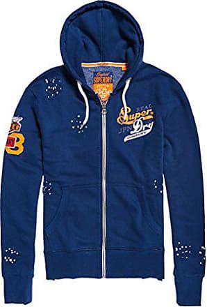 Superdry Bleu shirt Sweat Sport Trademarkjpnziphood à Bye Capuche classic Blue Large Homme raqFZr0wx