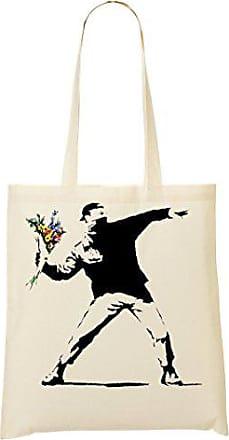 Tragetasche Banksy Molotov Flowers Einkaufstasche Graphic Toteworld H0ATfqq