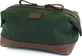 The Premium 100 Belt amp; Gewachstes Company Twill Echt Langdale Grün Wash Reißverschlusstasche Tasche British Leder rxXHqr