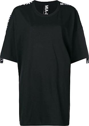 Trim shirt iam Noir Mia T Logo Dress IwxE4PT0pq