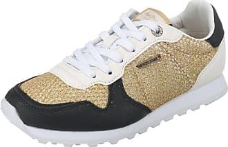 Pepe Verona Jeans London Sneakers Low W kombi Gold Mesh Goldfarben q67qEZrwnd