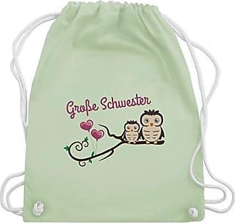 Kind Pastell Große Gym Bag Wm110 Grün Eulen amp; Turnbeutel Unisize Schwester Geschwisterliebe Süße Shirtracer 40q5EZ