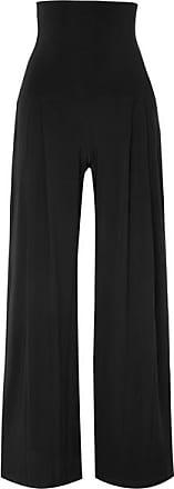 Stretch En Kamali Pantalon Norma à Jersey Large SouplesNoir Plis wOXulZkTPi