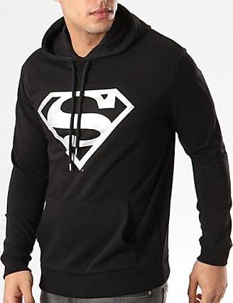 Capuche Sweat Noir Argent Superman Logo Dc Comics vPExwq1F