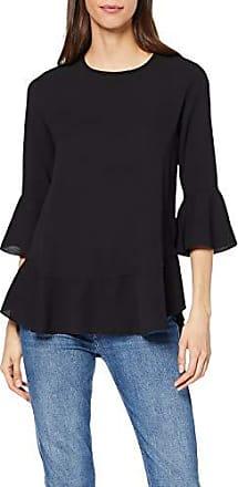 Del Mujer Quiz 001 42 Para Top Camiseta Larga Negro Manga Fabricante talla black 14 De YYU71