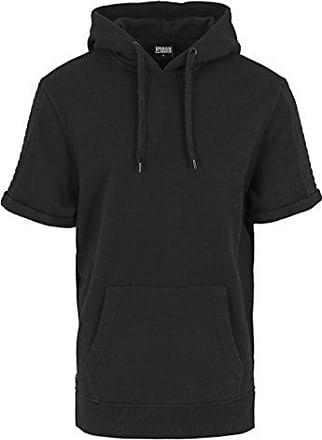 Urban Classics Noir Hoody Short Side Sweat Kapuzenpulli Zipped Homme Sleeve Shirt rrUw1dPxq