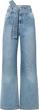Large Jean Denim Ceinture Taille Moyen Haute Msgm À d5xYd
