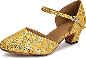 TanzschuheGelbYellow 5cm Minitoo Heel Größe41 gold Damen f7vb6yYg
