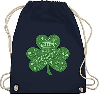 DayHappy Unisize Navy Bag Wm110 Shirtracer StPatricks Blau Kleeblatt Gym Turnbeutelamp; KJ1lF3Tc