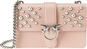 Vitello Pinko Love Tracolla Pearls Leather Schultertasche Damen Vintage perle xqHZ6q7w