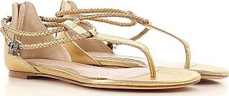 Baratos De Oro Piel dorado Rebajas Sandalias 2017 37 Alexander En Outlet Mujer Mcqueen 8IwngEAxqF