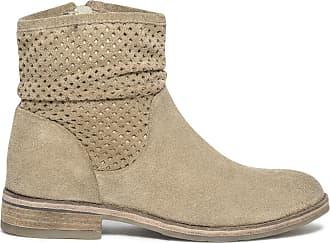 Beige Cuir Boots En Éram Staggy Velours B0wEZqax