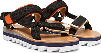 Leather Hender trimmed Webbing Scheme Multi Sandals CU1qHU