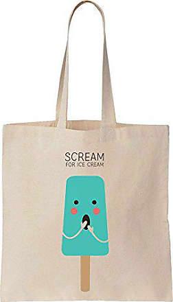 Tote Ice Baumwoll Scream Cream Einkaufstasche Blue Popsicle Bag Finest Segeltuch Prints For qpc6x0t