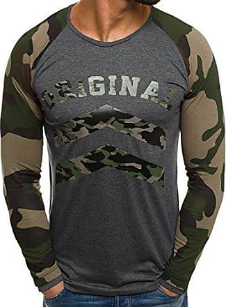 Armee Langarmshirt Herren Militärstil Dunkelgrau Sweatshirt Ozonee Camouflage 1155 Athletic S Longsleeve FT1clJK3u