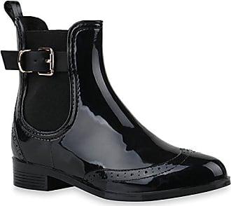 Print Stiefelparadies Damen Flandell Schwarz Camiri Chelsea Schuhe Lack Muster Blockabsatz 143173 39 Stiefeletten Boots Animal shrdCtQ