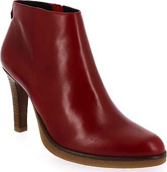 Boots Femme Max Rouge Pour Philip Janie AqwPFn