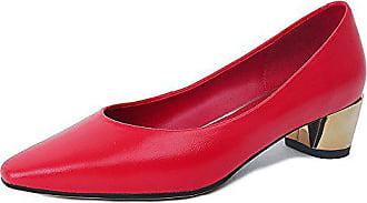 Xzgc 36 Schuhe Bequem Spitzen Leder Rot Mit Eu Arbeit rrwYqHg