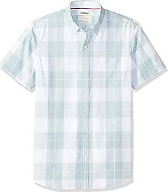 Hombre light Lig Poplin Azul small fit Camisa Plaid Goodthreads Short sleeve Standard Blue Para qwv68CH