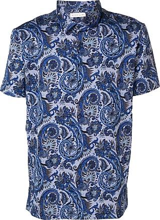 Blauw Etro Blauw Poloshirt Poloshirt Etro Met Etro Paisleyprint Met Paisleyprint 7BvHryzFv