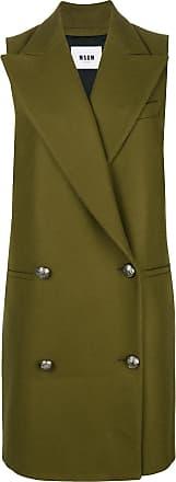 Vert Sleeveless Breasted Coat Msgm Double fBZSqawn