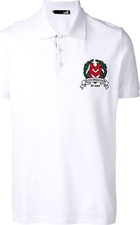 Logo Moschino Love Mit stickereiWeiß Poloshirt wkiPTlOZuX