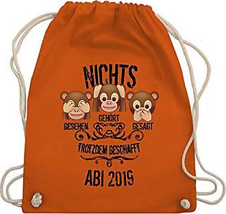 amp; 2019 Wm110 Bag Emojis Shirtracer Abschluss Affen Abi Turnbeutel Orange 3 Gym Unisize Aw5xpq